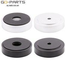 Soporte de pie de aislamiento de altavoz de aluminio mecanizado, sólido, 40x10mm, para AMP DAC, reproductor de CD, tocadiscos, armario, color plateado y negro