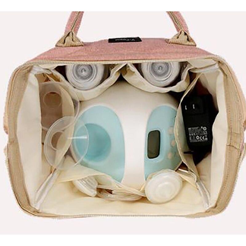 Купить с кэшбэком Mummy Bag Insulation bag travel Usb diaper bag backpack for stroller Breast Milk storage multifunction outdoor