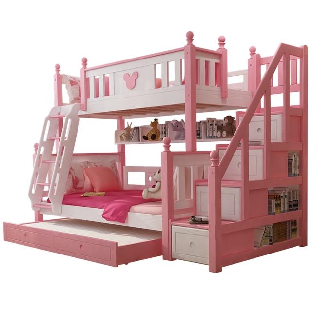 Modern Bedroom Furniture Pink Princess Kids Bunk Bed For Girls Bedroom Sets Aliexpress