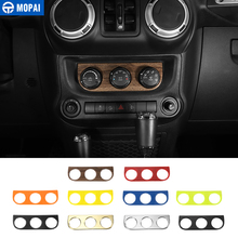 MOPAI Car Interior Air Conditioning Switch Panel Decoration Cover Stickers for Jeep Wrangler JK 2011 Up Car Accessories Styling