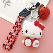 Cartoon Cute Keychain Hello Kitty Cat Girl Lady Bag Pendant Accessories Car New Key Ring