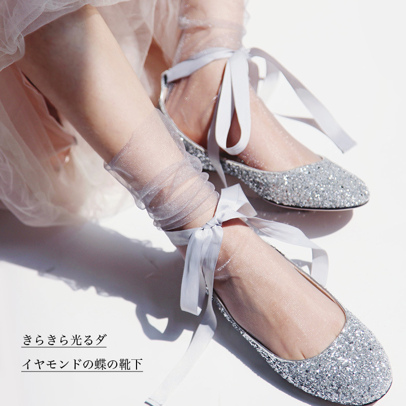 Women Mesh Socks bright shiny colorful mesh thin socks fashion Lady Transparent Sock Spring Summer Thin