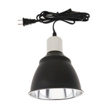 NEW E27 Reptile Light Dome Fixture - UV Bulb Reflector Lamp Holder -Terrarium Bracket 110-120V US Plug(China)
