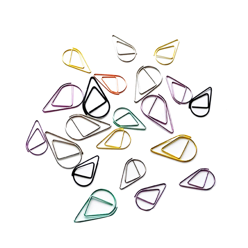 10 Pcs/lot Cute Kawaa Korean Metal Paper Clip Gold Silver Black Color Bookmark Stationery Office Accessory School Supply