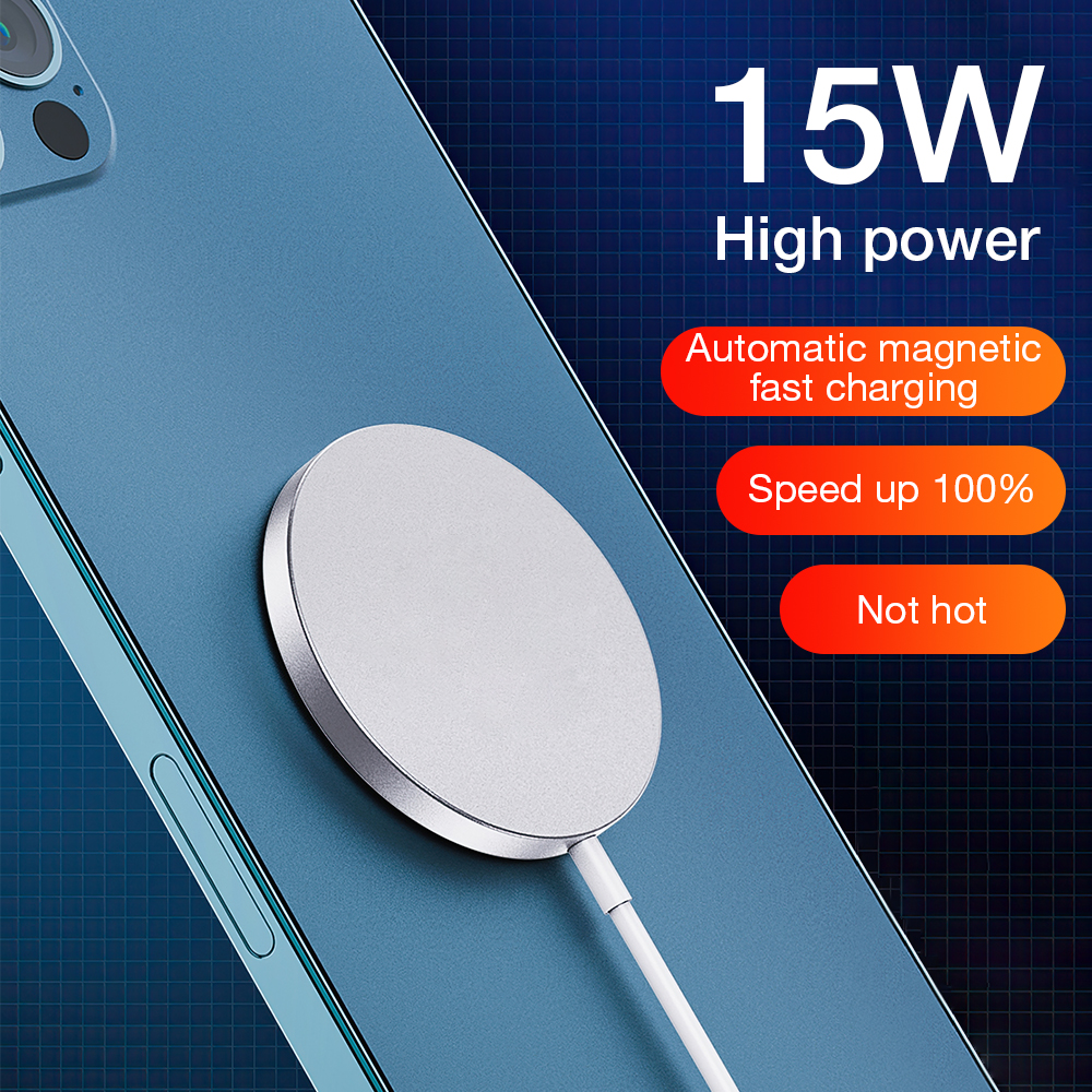 Magnetic Wireless Charger For iPhone 12 Pro Max Magsafe Charger 15W Fast Charging Pad For Samsung Xi