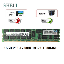 Memória do reg rdimm do servidor do ecc de sheli 16 gb PC3-12800R DDR3-1600MHZ 240pin cl11