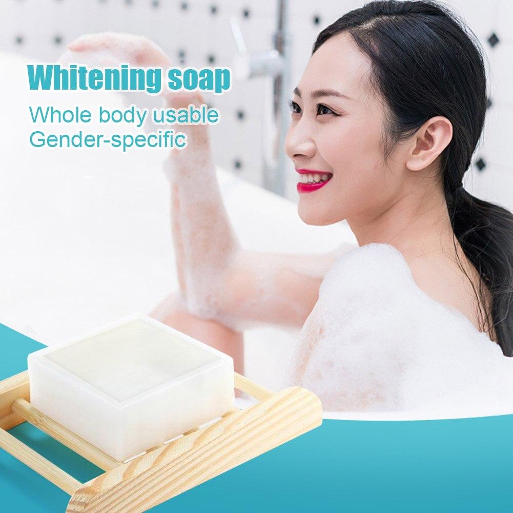 Dropshipping New Hot Sale Whitening Handmade Soap Ferment Body Neck Arm Nourish Whitening Soap 80G SMJ