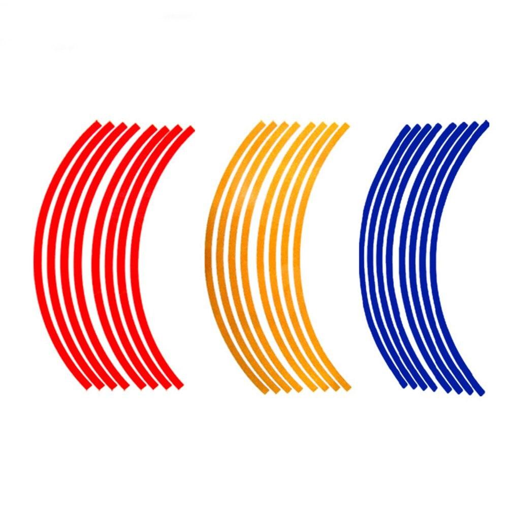 Разные цвета, светоотражающие полосы для автомобильных шин, светоотражающие декоративные наклейки для мотоциклов, светящиеся Стикеры для