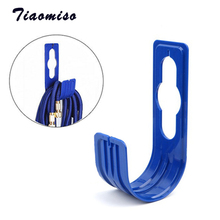 2Pcs Tiaomiso ABS Garden Wall Mounted Tap Watering Hose Organizer Storage Hose Pipe Holder Wash Car Pipe Outdoor Tap Hanger Rack topower pipe wall mounted hat and coat hanger vintage industrial steam valve 2 3 4 5 iron water pipe tap metal
