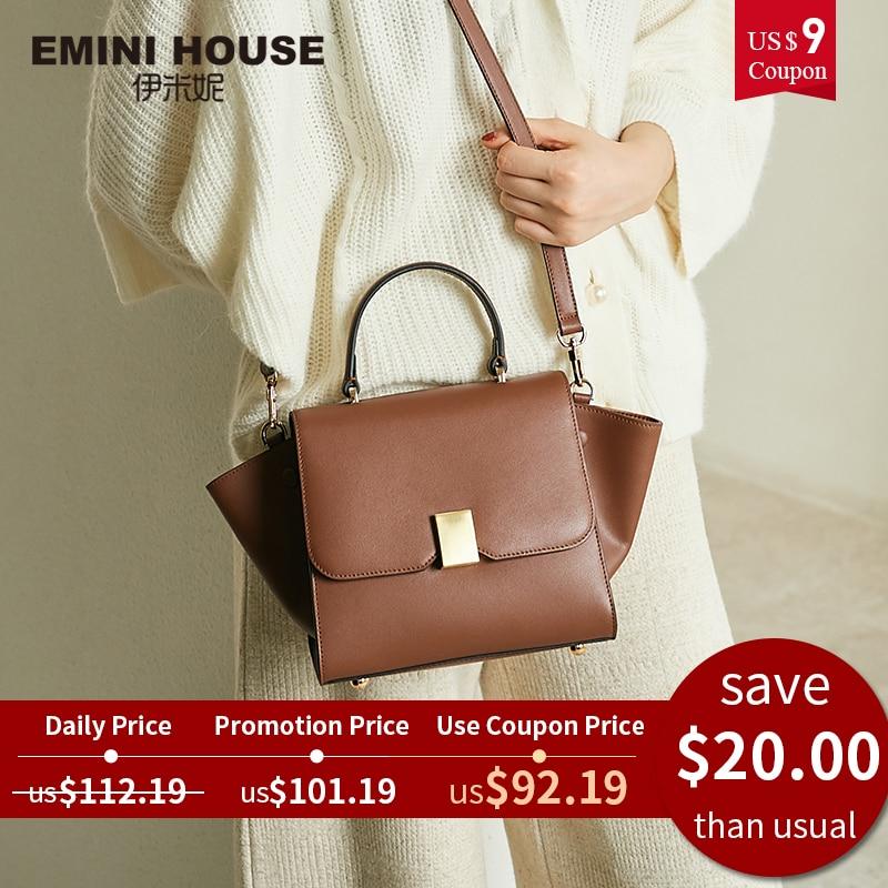 Trapeze Handbag Padlock Shoulder-Bag Women Bags Emini House Designer Crossbody-Bags