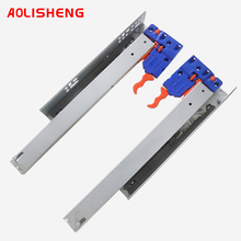 AOLISHENG Concealed Drawer Runner Three-Section Soft Closing Bottom Mount Kitchen Cabinet  Slides