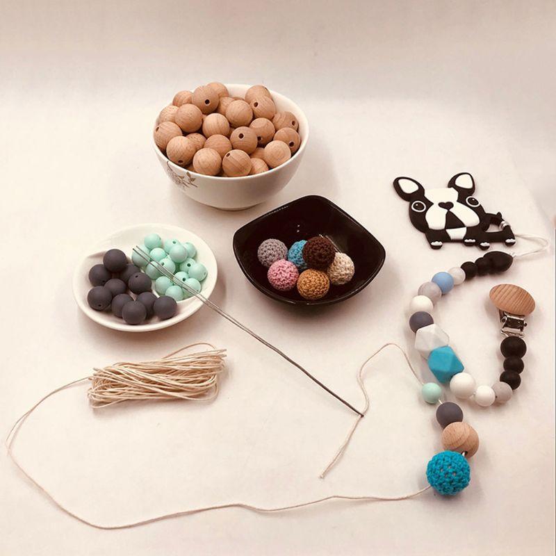 1mm encerado algodão cabo bebê mordedor acessórios 5m linha para diy jóias fazendo