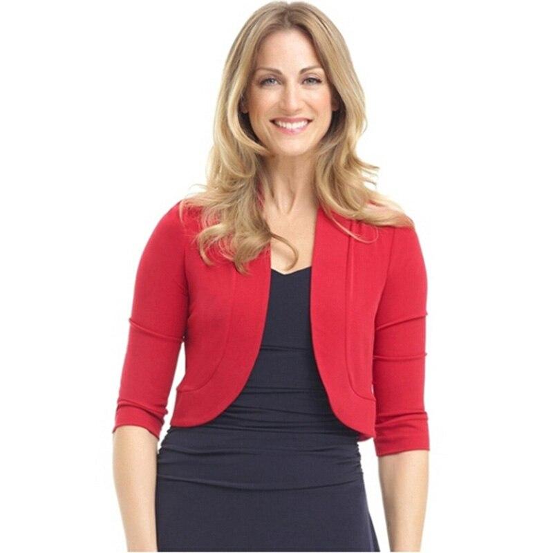 Женский короткий свитер большого размера, Осенний короткий кардиган большого размера с рукавом 3/4 и коротким ремешком