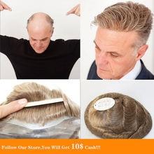 Bymc 6x8 Кожа pu для мужчин s Малайзия волосы медовый блонд