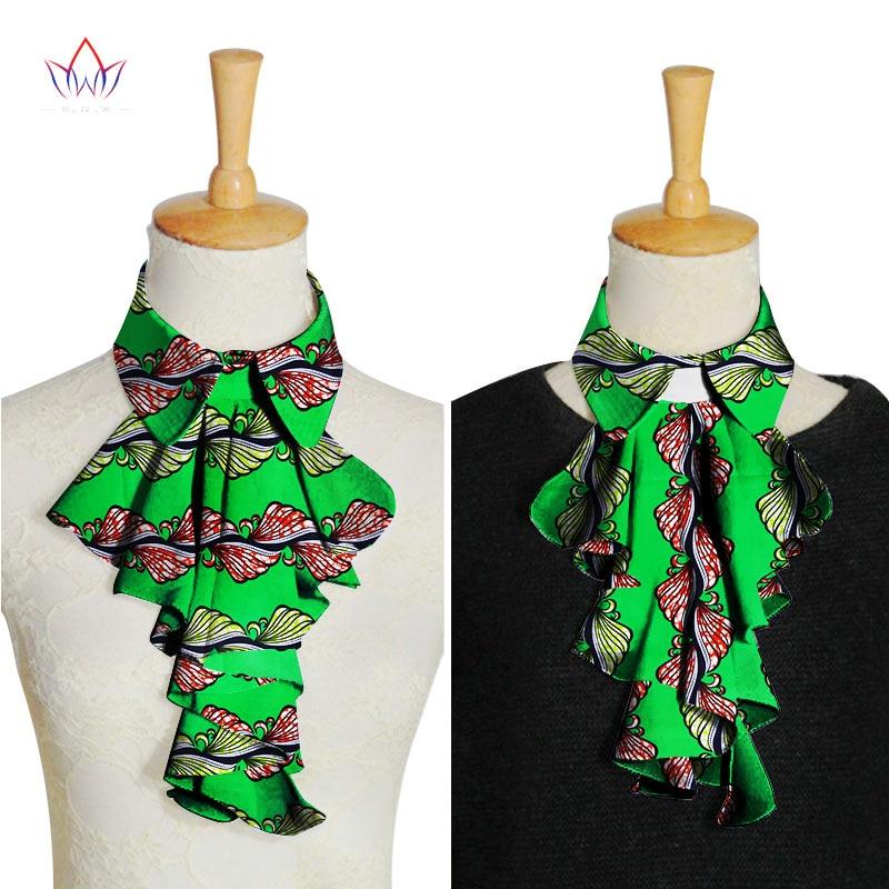 WYA027 African New False Collar Fake Collars Women Blouse Bows Women Clothes Accessories Classic False Cotton Collar