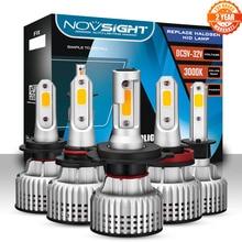 NOVSIGHT 9006 Led 전조등 전구 LED H1 H3 H4 H7 H11 H8 H9 H13 9005 9007 3000K 옐로우 10000LM 72W 자동차 전조등 안개등