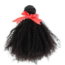 Afro Kinky Curly Hair 3 Bundles Brazilian Hair 100% Remy Human Hair Bundles Extensions 8-30inch Natural Double Weft Weave(China)