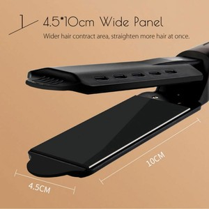 Image 3 - Ceramic Tourmaline Ionic Flat Iron Hair Straightener Professional Glider Temperature Adjustment Hair Flat Iron EU/UK/US Plug