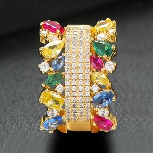 Image 5 - GODKI  2PCS Bangle/Ring Set Luxury Korean Saudi Arabia Jewelry Sets For Women Wedding Engagement brincos para as mulheres 2019