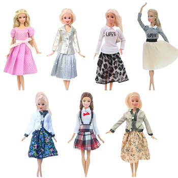 2 Pcs/Set (Free Shipping)=1 Doll Dress + 1 High Heels For 11.8 Inch Barbie Clothes Accesorios 30 cm Doll,Toys For Girls image