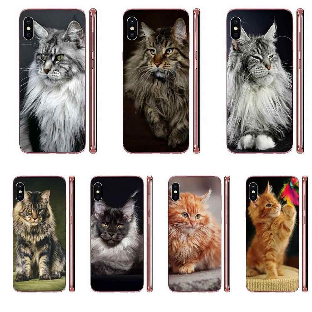 Thú Cưng Mèo Maine Coon In Mềm Dành Cho Samsung Galaxy A51 A71 A81 A90 5G A91 A01 S11 S11E s20 Plus Ultra
