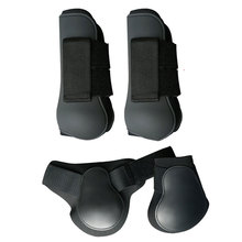 Leg-Boots Riding Horse Front Adjustable-Band Protective Pu-Shell Hind Anti-Scratching
