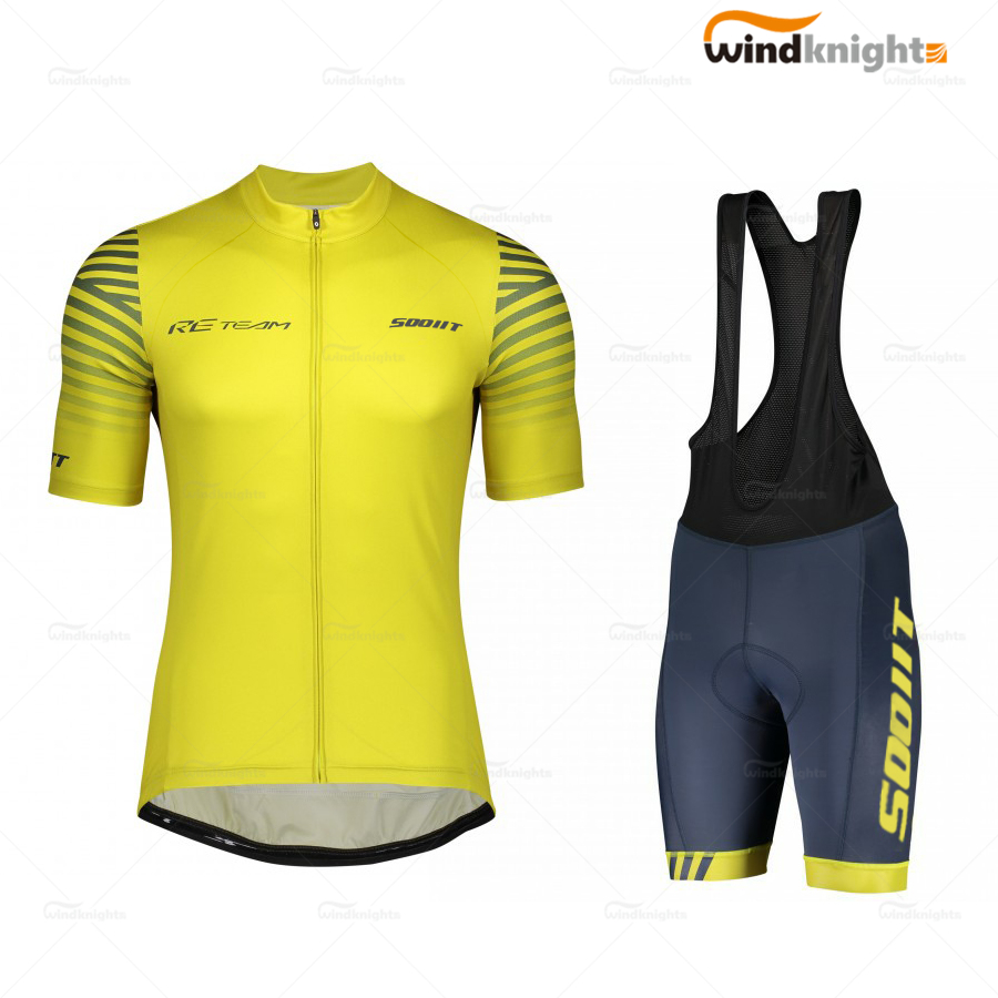 Mens Cycling Clothes Team Scottes-10 Short Sleeve Jersey 2020 Summer Jersey Ropa Ciclismo Road Bike Clothes Cycling Shorts Gel