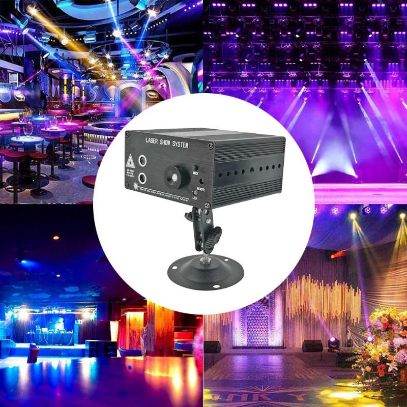 3 holes 48 Pattern LED Voice Control Light Music Rhythm Flash Light LED Laser Projector Stage DJ Disco Light Club Dancing Party