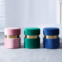 Nordic Shoes Changing Stool Modern Household Dresser Makeup Stool Modern Sofa Fabric Change Shoes Chair Home Furniture