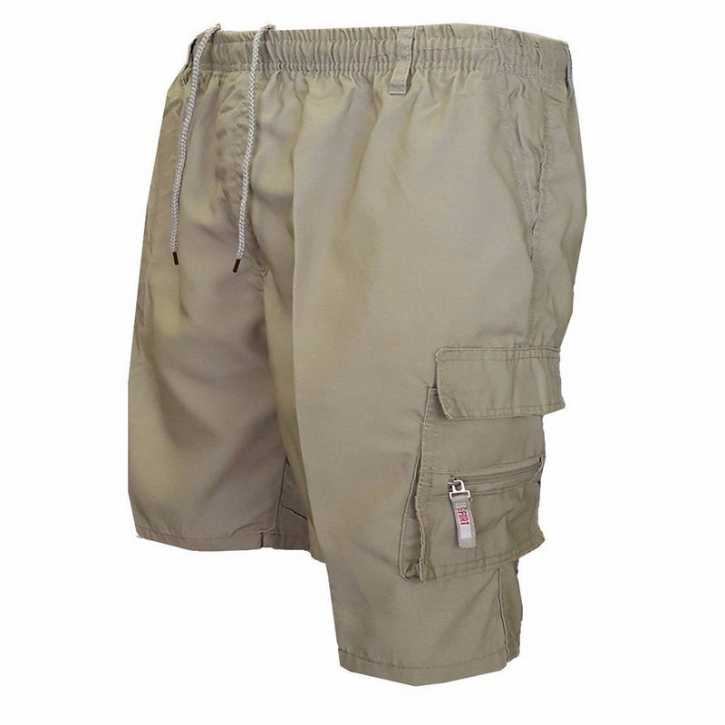 Men Multi Pocket Cargo Shorts Casual Cotton Knee Length Military Shorts Men Loose Army Tactical Shorts Homme Summer Sweatpants