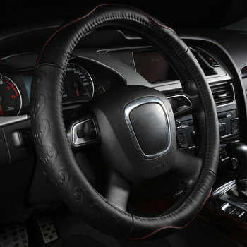 Car Steering Wheels Cover Genuine Leather Accessories for Jeep Cherokee CJ Commanche Commander Compass Grand Cherokee