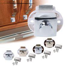 Push-Lock Furniture-Hardware-Accessories Rv Caravan Home-Cabinet Latch Motor Boat Drawer