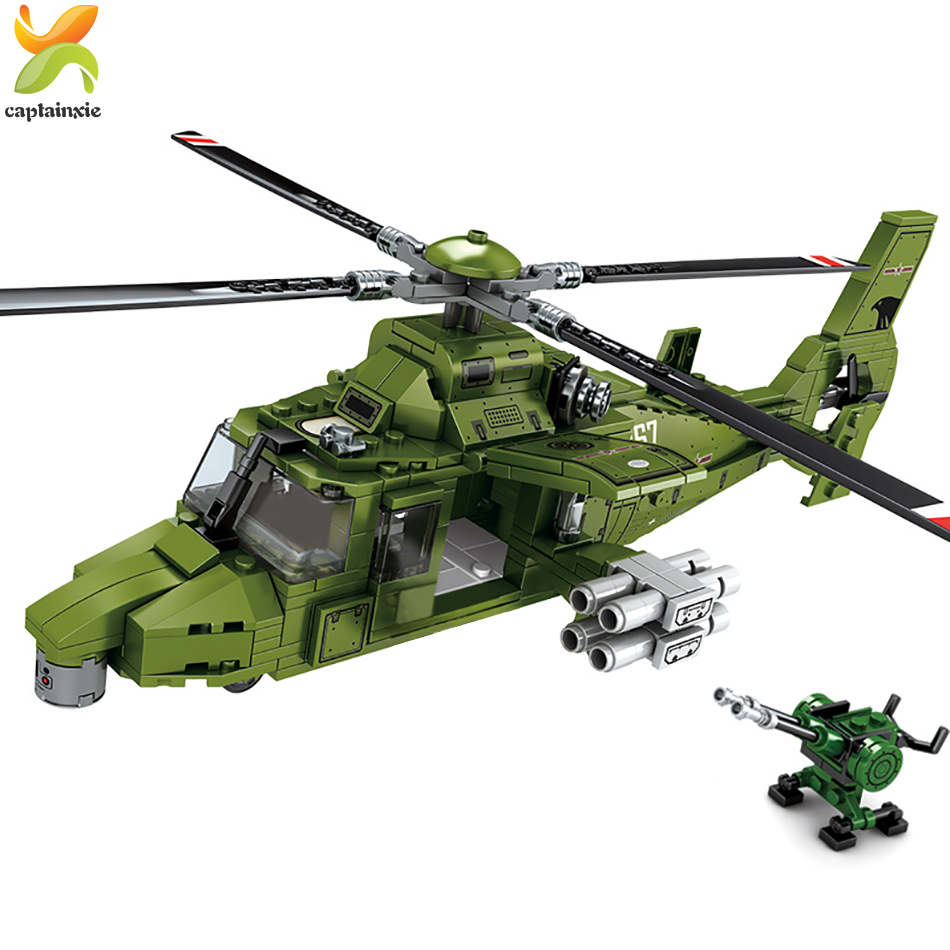 481pcs Military Helicopter Building Blocks Army Weapon Soldier Figures Plane Bricks Toys For Chlidren Gift