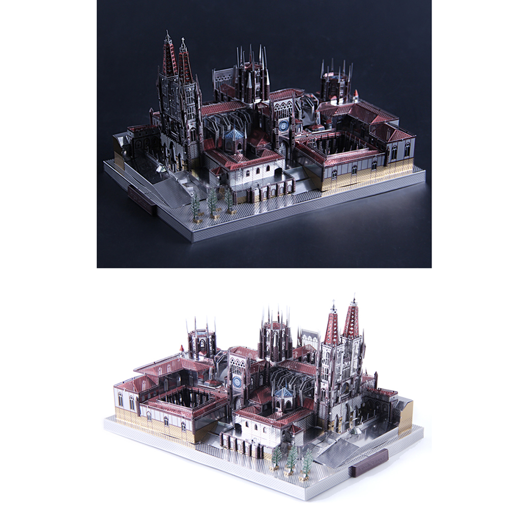 229 PCS 3D Metalwork Burgos Cathedral Model Kits Intelligence Toy Home Office Decor Ornament Collectibles