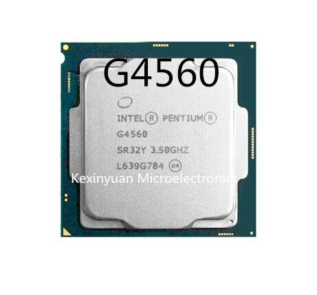 Processeur Intel Pentium G4560 g4560 LGA 1151-FC-LGA terrestre 14 nanomètres Dual-Core correctement processeur d'ordinateur de bureau 100% fonctionnant