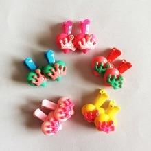 2 Pcs/lot Scrunchy Girls Kids Cute Heart Crown Shape Hair Clip Headbands Hairpins Accessories