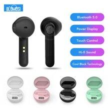 Tai Nghe không dây Tai Nghe Nhét Tai Bluetooth 5.0 TWS Hifi Nhỏ Bass Tai Nghe Nhét Tai với Màn Hình Hiển Thị Công Suất Điều Khiển Cảm Ứng Tai Phát Hiện