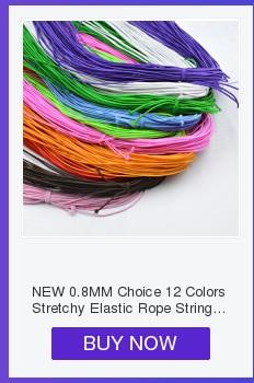 Новинка 0,8 мм на выбор, 12 цветов, эластичная веревка, шнур, бисер, сделай сам, для изготовления ювелирных изделий, браслет и ожерелье