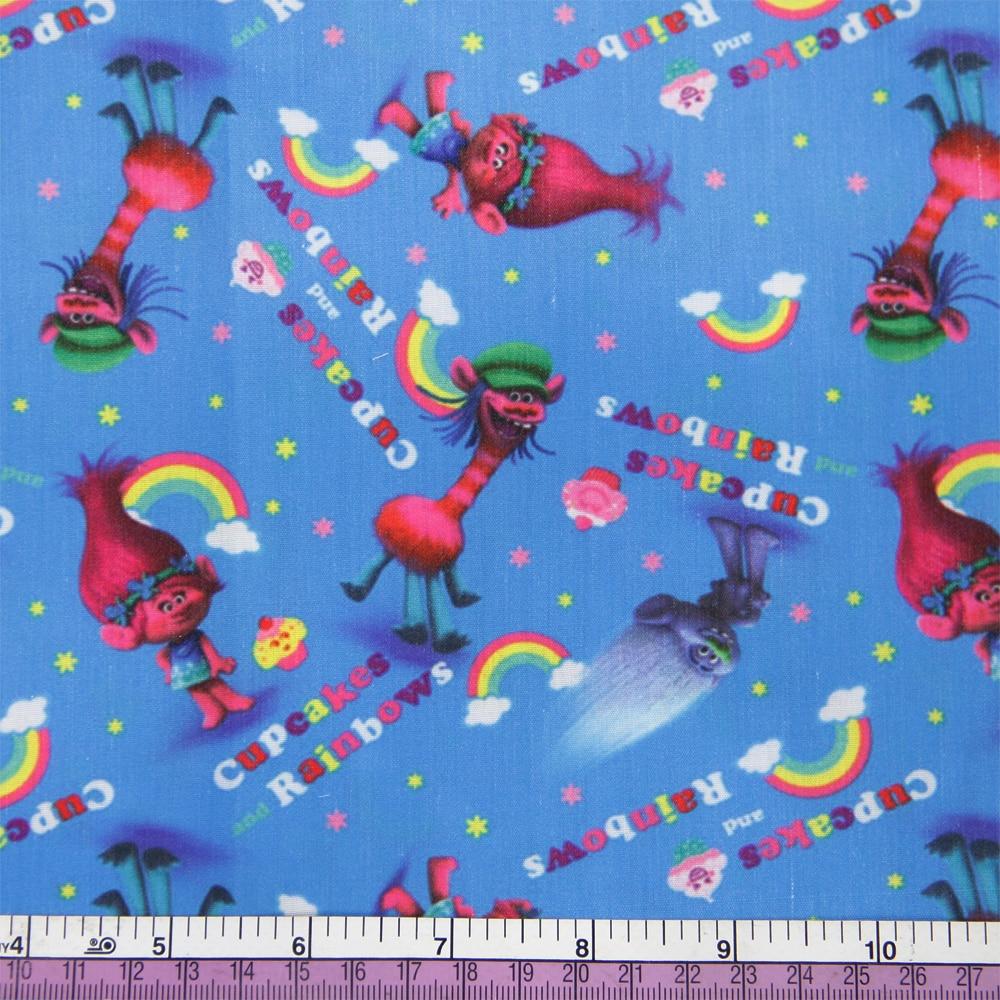 50*140 см мультфильм дизайн полиэстер хлопок ткань для ткани дети девочки платье Домашний текстиль для шитья ремесла, c2445 - Цвет: 1053555001