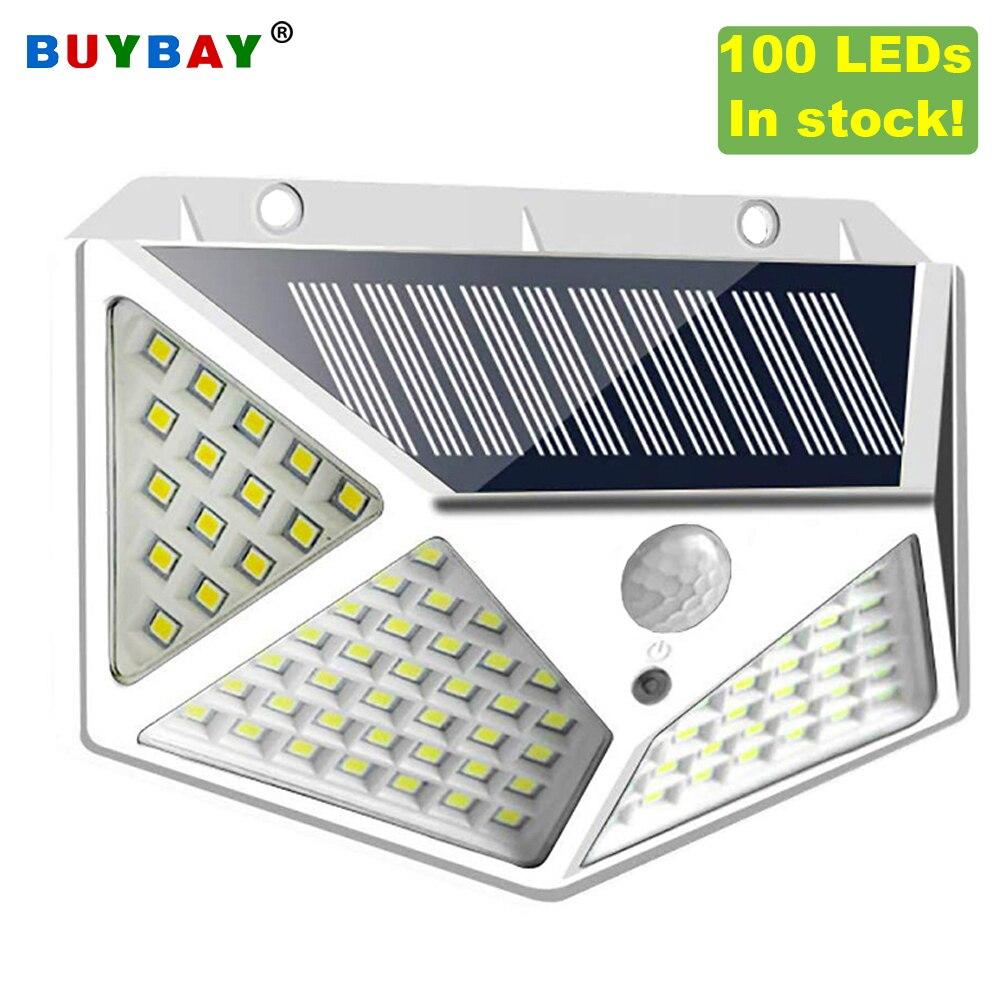 In Stock 100 LED Solar Light Solar Lamp Motion Sensor Wall Lights For Garden Decor Outdoor Led Security Lighting IP65 Waterproof