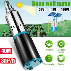 40m 12V/24V Solar Water Pump High Lift 180W / 300W Deep Well Pump DC Screw Submersible Pump Agricultural Irrigation Garden Home