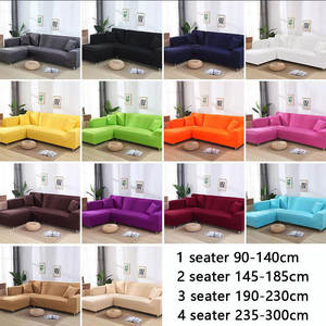 Sofa-Cover Chaise Corner Spandex Living-Room Elastic L-Shaped for Longue 1/2/3/4-seater
