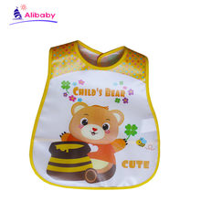 Adjustable Waterproof Baby Bibs Infant Burp Cloths Toddler Scarf Feeding Smock Coverall Baby Animals Baby Feeding Accessories(China)