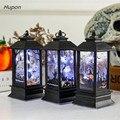Светодиодные свечи, винтажный замок, летучие мыши, тыква, фонарь, лампа пламени, страшные товары для Хэллоуина и вечеринок