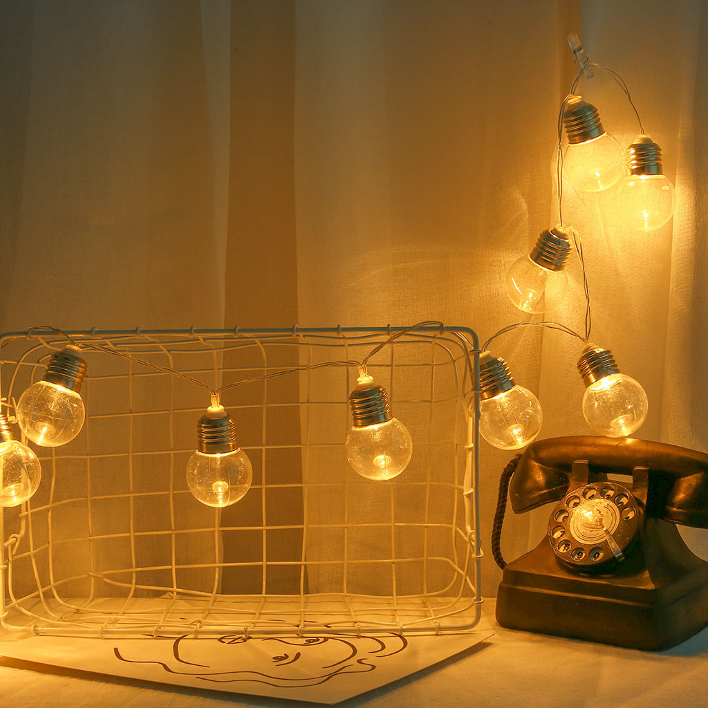 4 M 10 vintage ampoules DEL Guirlande Chaîne Fée Lumières Guirlande Lumières de fête pour