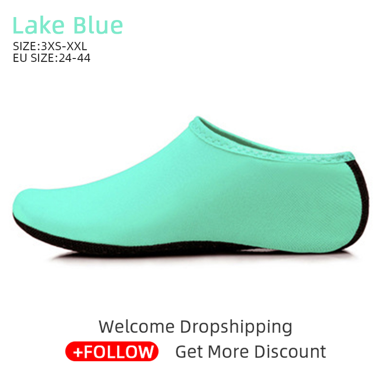 Outdoor Unisex Beach Sandals Diving Snorkeling Shoes Soft Slides Flats Non-Slip Shoes Slippers Swimming Water Breathable Shoes 5
