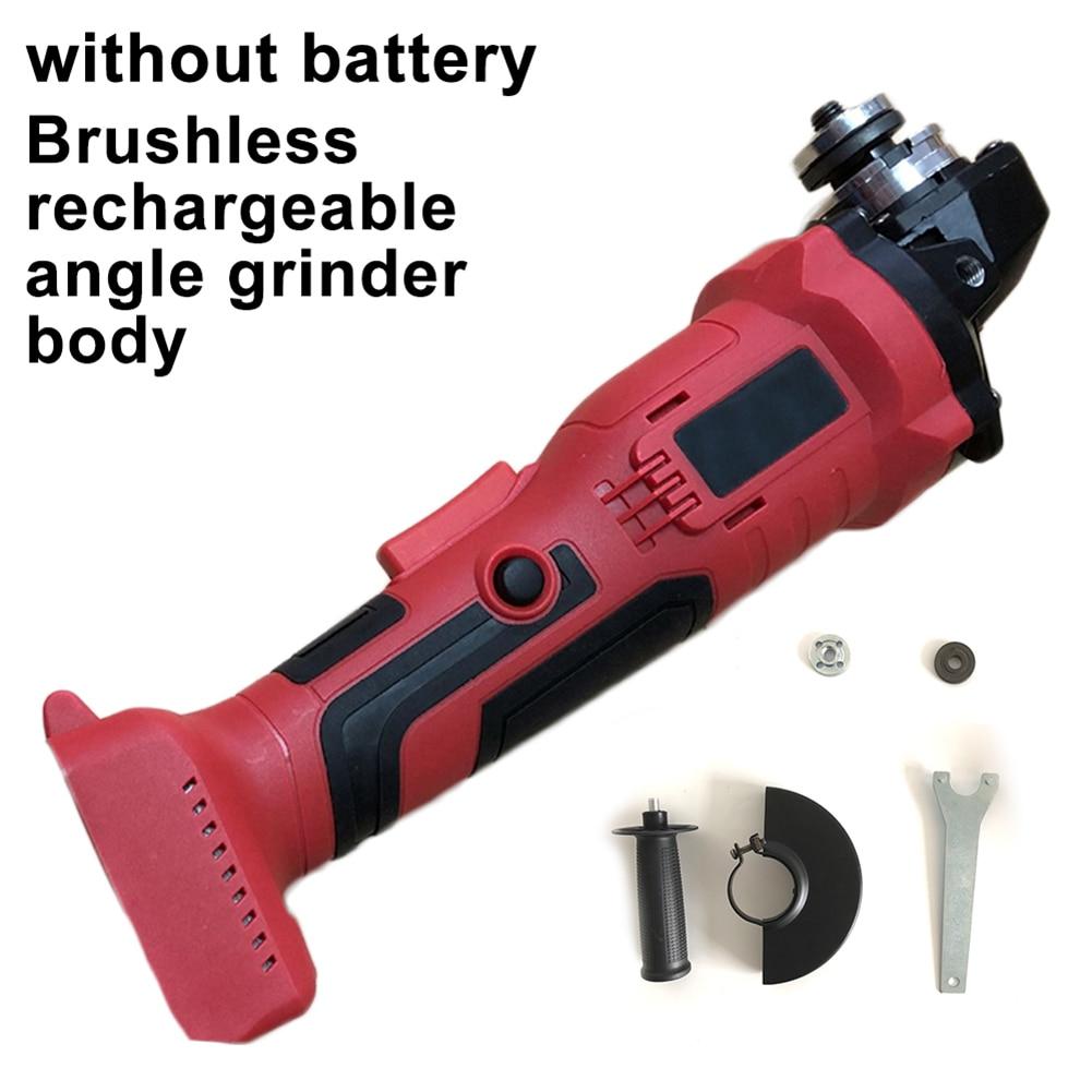 100 мм 18V бесщеточный аккумуляторная ударная угловая шлифовальная машина шлифовальные инструменты Kit без Батарея подходит для Makita 18V