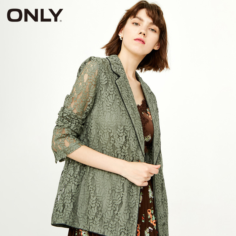 ONLY  Spring Hollow Out Pearl Leisure Suit Coat | 118308502