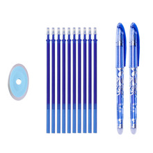 Erasable Pen Set Magic Washable Handle 0.5mm Gel Pens Blue Black Ink Refills Rods
