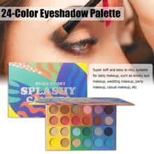 24-Color Eyeshadow Palette Pearly Matte Easy To Color Makeup Palette Smoky Eye Makeup Wedding Makeup Party Cosmetic